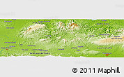Physical Panoramic Map of Tiguabos