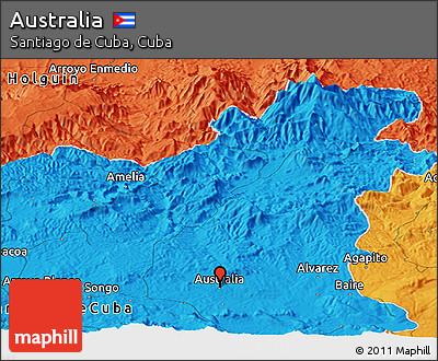 Political Panoramic Map of Australia