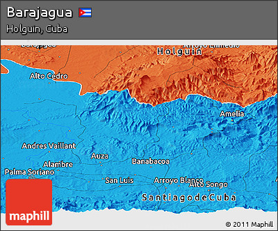 Political Panoramic Map of Barajagua