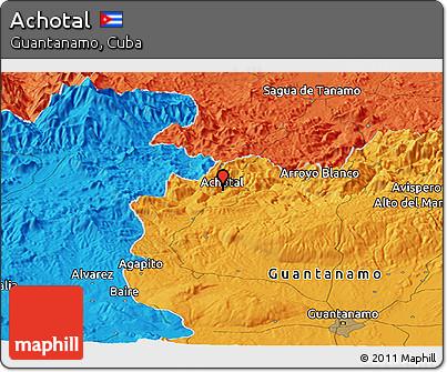 Political Panoramic Map of Achotal