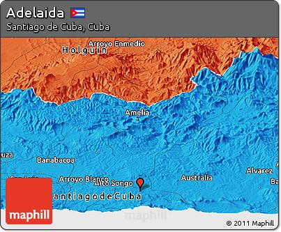 Political Panoramic Map of Adelaida
