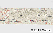 Shaded Relief Panoramic Map of Belleza