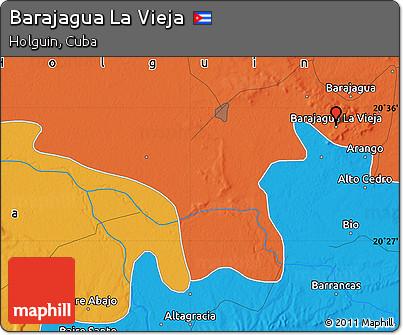 Political Map of Barajagua La Vieja