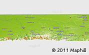 Physical Panoramic Map of Caunao