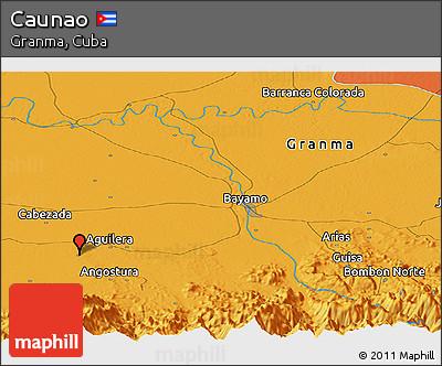Political Panoramic Map of Caunao