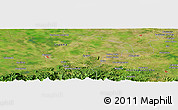 Satellite Panoramic Map of Aguacate