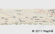 Shaded Relief Panoramic Map of Camagüey