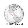Outline Map of El Martillo, rectangular outline