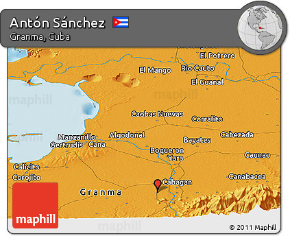 Political Panoramic Map of Antón Sánchez