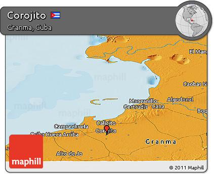 Political Panoramic Map of Corojito