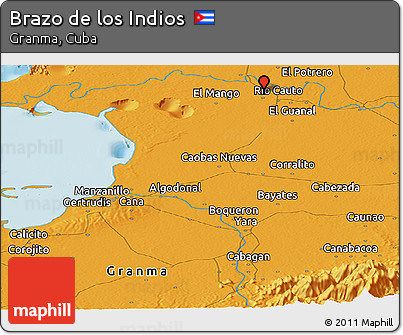 Political Panoramic Map of Brazo De Los Indios