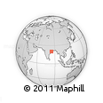 Outline Map of Phulbani, rectangular outline