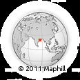 Outline Map of Kutri, rectangular outline