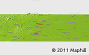 """Physical Panoramic Map of the area around 20°22'55""""N,85°55'30""""E"""