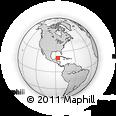 Outline Map of San Miguel De Cozumel, rectangular outline