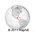 Outline Map of Casa Tortuga Tulum, rectangular outline