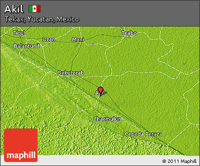 Physical 3D Map of Akil