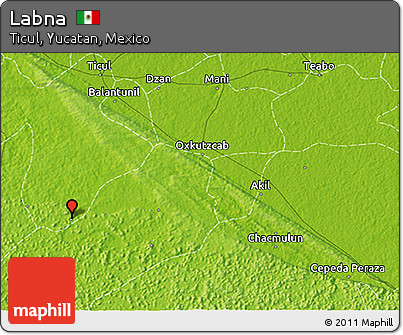 Physical 3D Map of Labna