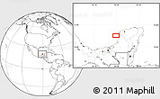 Blank Location Map of Jaina