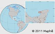 Gray Location Map of Neyac