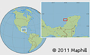 Savanna Style Location Map of Neyac