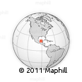 """Outline Map of the Area around 20° 22' 55"""" N, 91° 43' 29"""" W, rectangular outline"""
