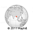 Outline Map of Ziza, rectangular outline