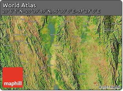 "Satellite Map of the Area around 20°22'55""N,96°58'29""E"