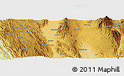 "Physical Panoramic Map of the area around 20° 22' 55"" N, 96° 58' 29"" E"