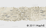 Shaded Relief Panoramic Map of Hpya-hpat