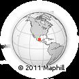 Outline Map of Hidalgo, rectangular outline