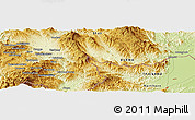 Physical Panoramic Map of Möng Htā-lāng