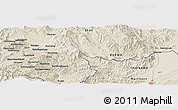 Shaded Relief Panoramic Map of Möng Htā-lāng