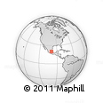 Outline Map of Ixmiquilpan, rectangular outline