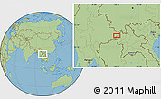 Savanna Style Location Map of Wān Ai-li