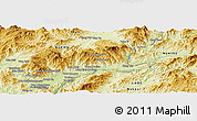 Physical Panoramic Map of Möng Pa-liao
