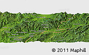 Satellite Panoramic Map of Wān Ai-la-htongmaw