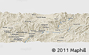 Shaded Relief Panoramic Map of Wān Hpa-lēng