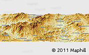 Physical Panoramic Map of Ban Cham Kam Sao