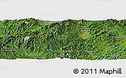 Satellite Panoramic Map of Ban Houaykhing