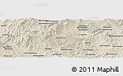 Shaded Relief Panoramic Map of Ban Houaykhing