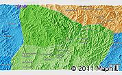 Political 3D Map of Ban Chanmai
