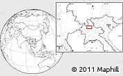 Blank Location Map of Ban Chanmai