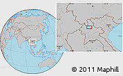 Gray Location Map of Ban Chanmai