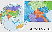 Political Location Map of Ban Chanmai