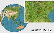 Satellite Location Map of Ban Chanmai