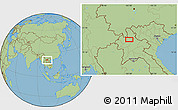 Savanna Style Location Map of Ban Chanmai