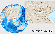 Shaded Relief Location Map of Ban Chanmai