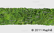 Satellite Panoramic Map of Ban Hatnang