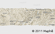 Shaded Relief Panoramic Map of Ban Donxai